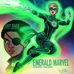 Amalgam Emerald Marvel and Amy Rage