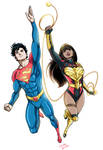 Jon Kent Superman and Yara Flor Wonder Woman