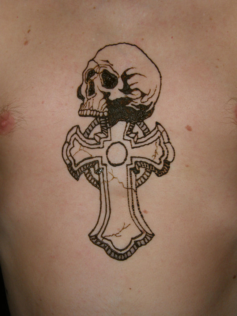 Henna SkullCross By Redtailhawker On DeviantArt