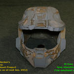 Progress on Pepakura Halo Helm by redtailhawker
