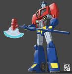 Animated Optimus Prime 2