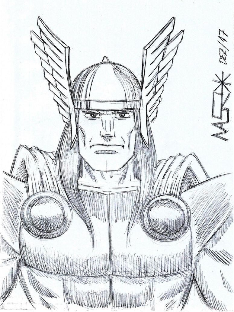 Thor Sketch by rattrap587