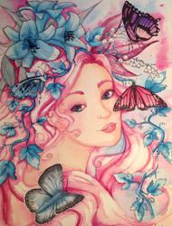 La dame aux papillons