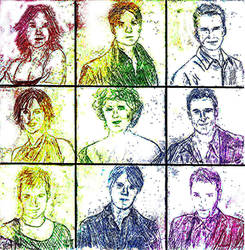 Queer as Folk Cast by Menyalion