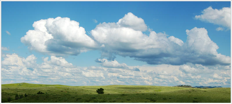 Fluffy Clouds and Quiet Greens by FuryThames