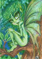 Keelin : Leaf Fairy ACEO by alyssakay