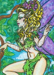 Naimh : Woodland Fairy ACEO by alyssakay