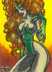 Poison Ivy ACEO by alyssakay