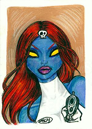 Mystique : Xmen ACEO by alyssakay