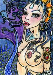 T'iana - Sexy Mermaid ACEO by alyssakay