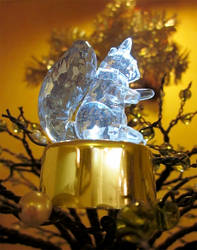 Blue Christmas Squirrel