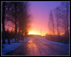 Winter Road by Mrichston
