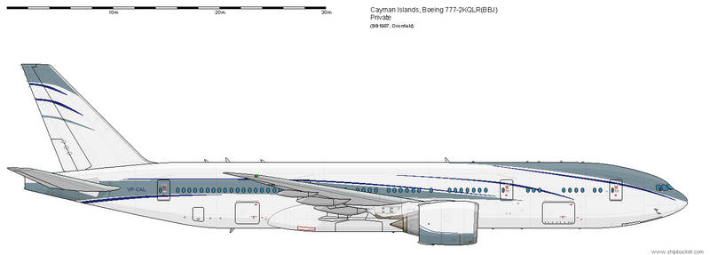 Cayman Islands 777 BBJ