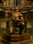 Riddick sculpture on set
