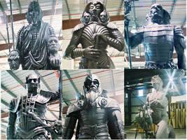 Riddick sculptures in progress by danielsyzygy