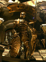 Riddick sculpture on set 02 by danielsyzygy