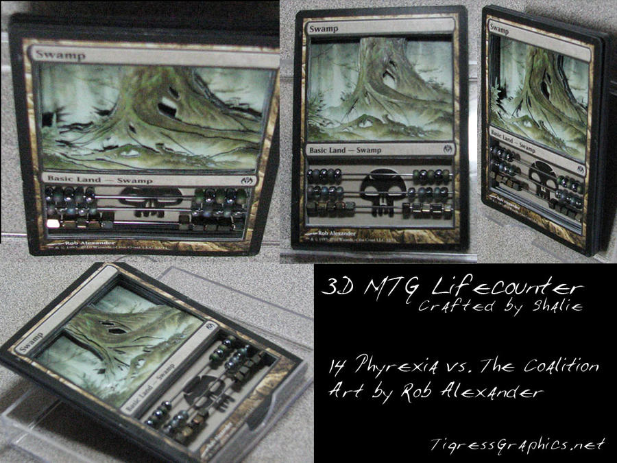 how to make 3d mtg life counter