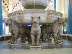 stock lion fountain