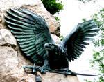 stock eagle sculpture