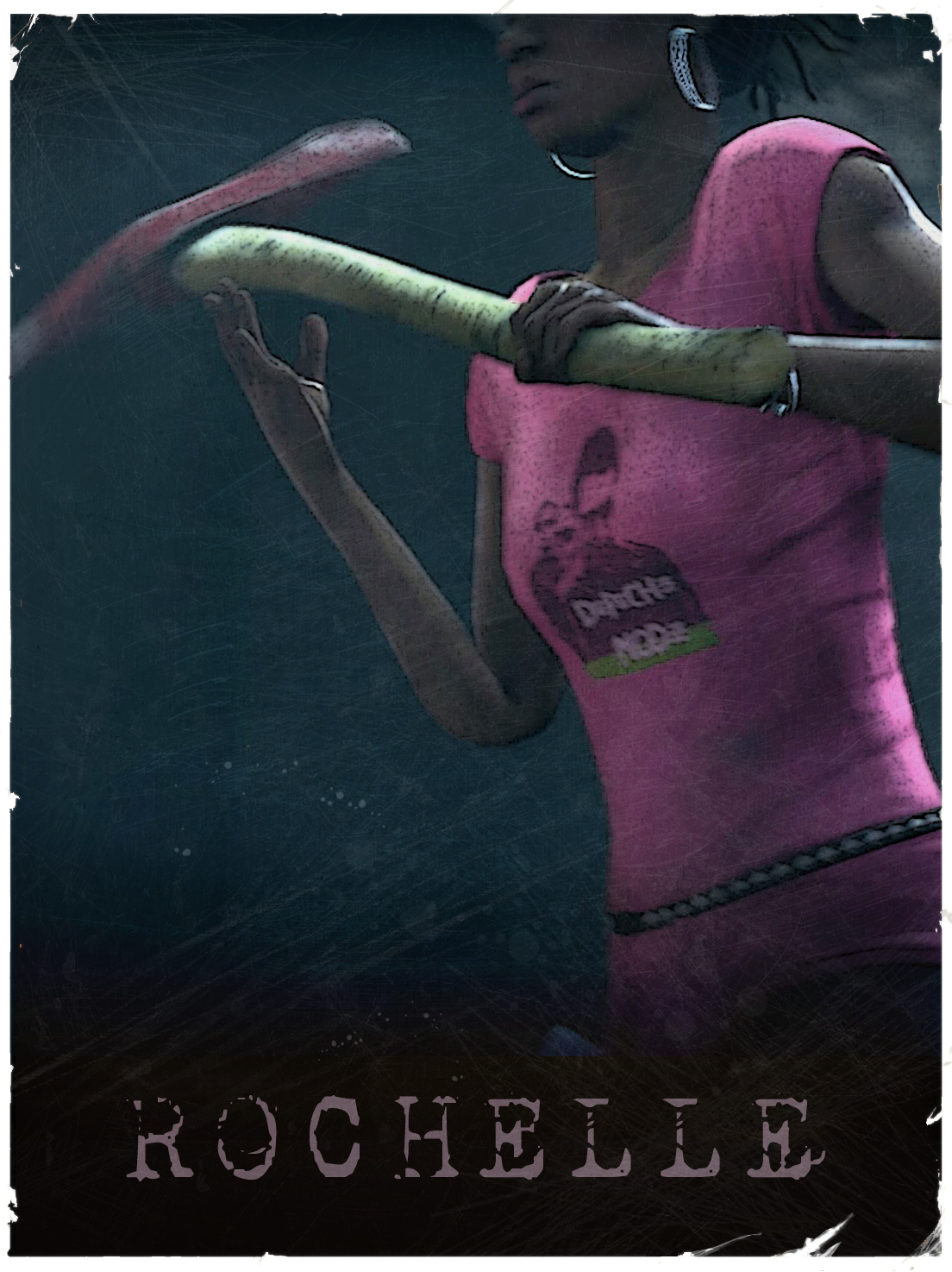 YOU IN l4d2 Rochelle___L4D2_vintage_poster_by_The_Loiterer