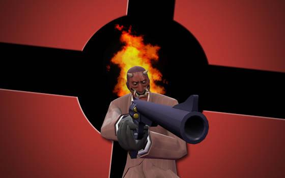 Red Devil - TF2 Spy wallpaper