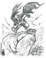 004 Batsy vs Hulk by romidion