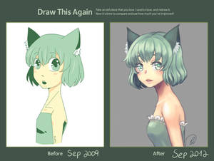 Draw This Again: Green Kitty
