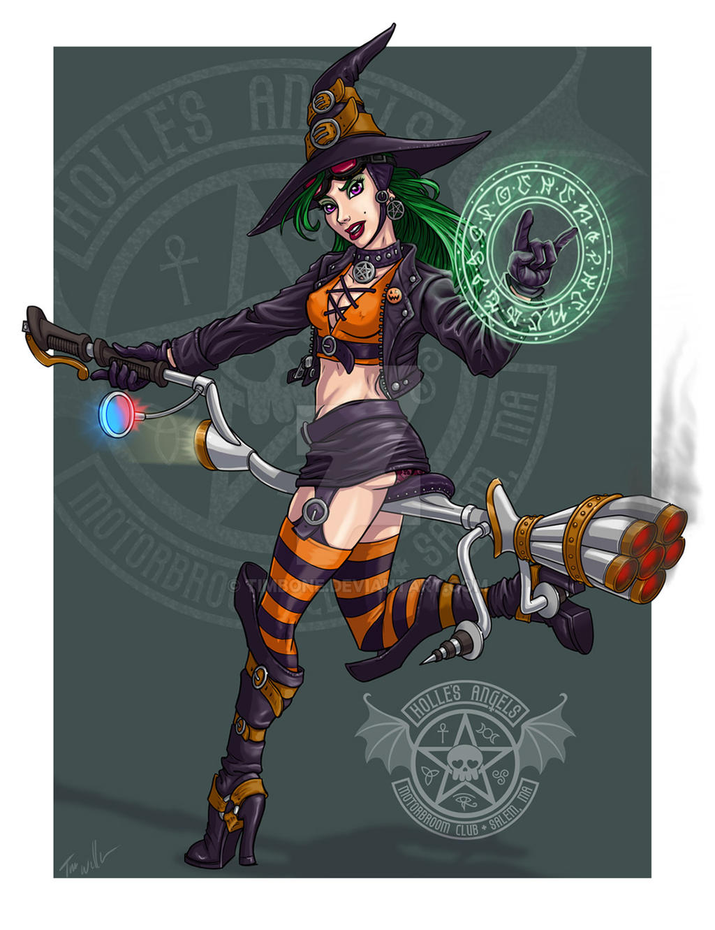 Biker Witch by Timbone