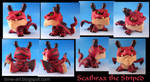 Scathrax the Striped, dragon dunny custom