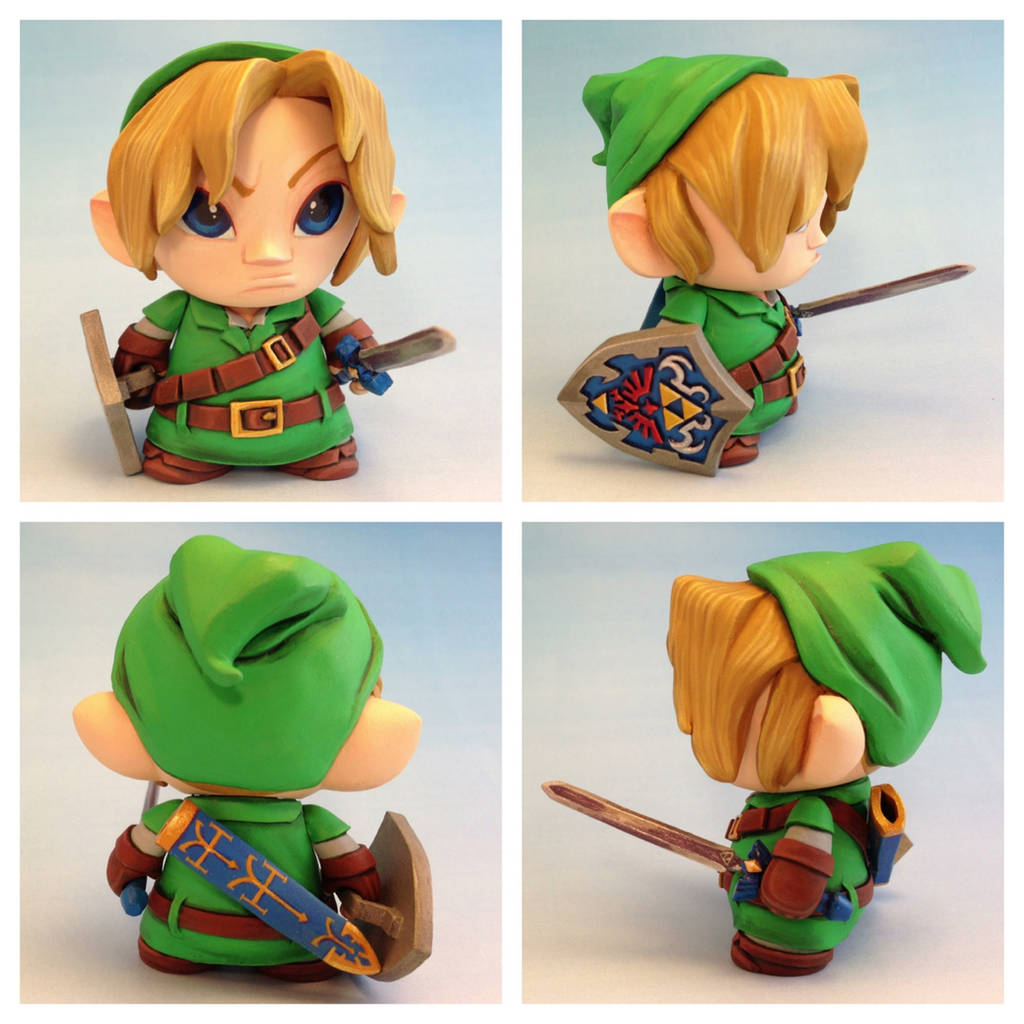 Link - Legend of Zelda - Micro Munny toy by Timbone