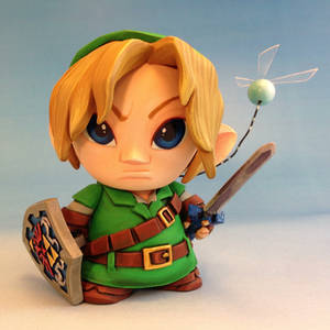Link and Navi custom Micro Munny toy