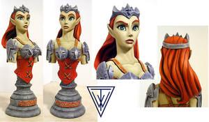 The Goblin Queen - bust sculpt