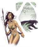 The Jungle Huntress - color
