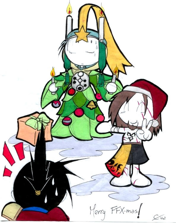 Merry FFX-mas by crimsontriforce