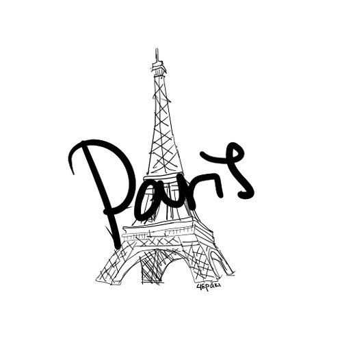 Gallery For gt Cute Drawings Of The Eiffel Tower