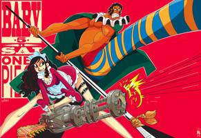 One Piece: Baby 5 + Sai by creatorofall