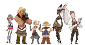 Final Fantasy 12 line up by creatorofall