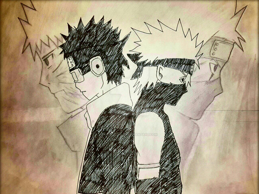 Obito and Kakashi | Sketch by Ray-Striker