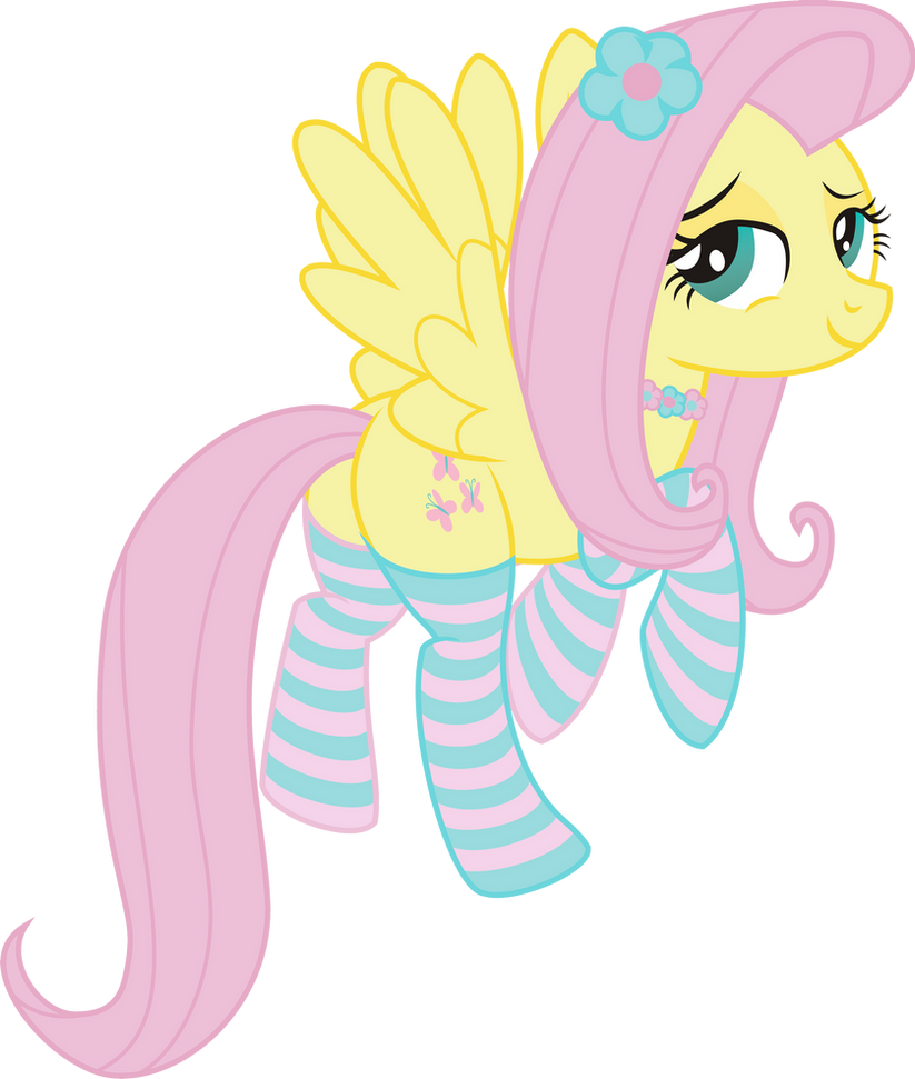 Fluttershy fearless... PNG by leopurofriki on DeviantArt