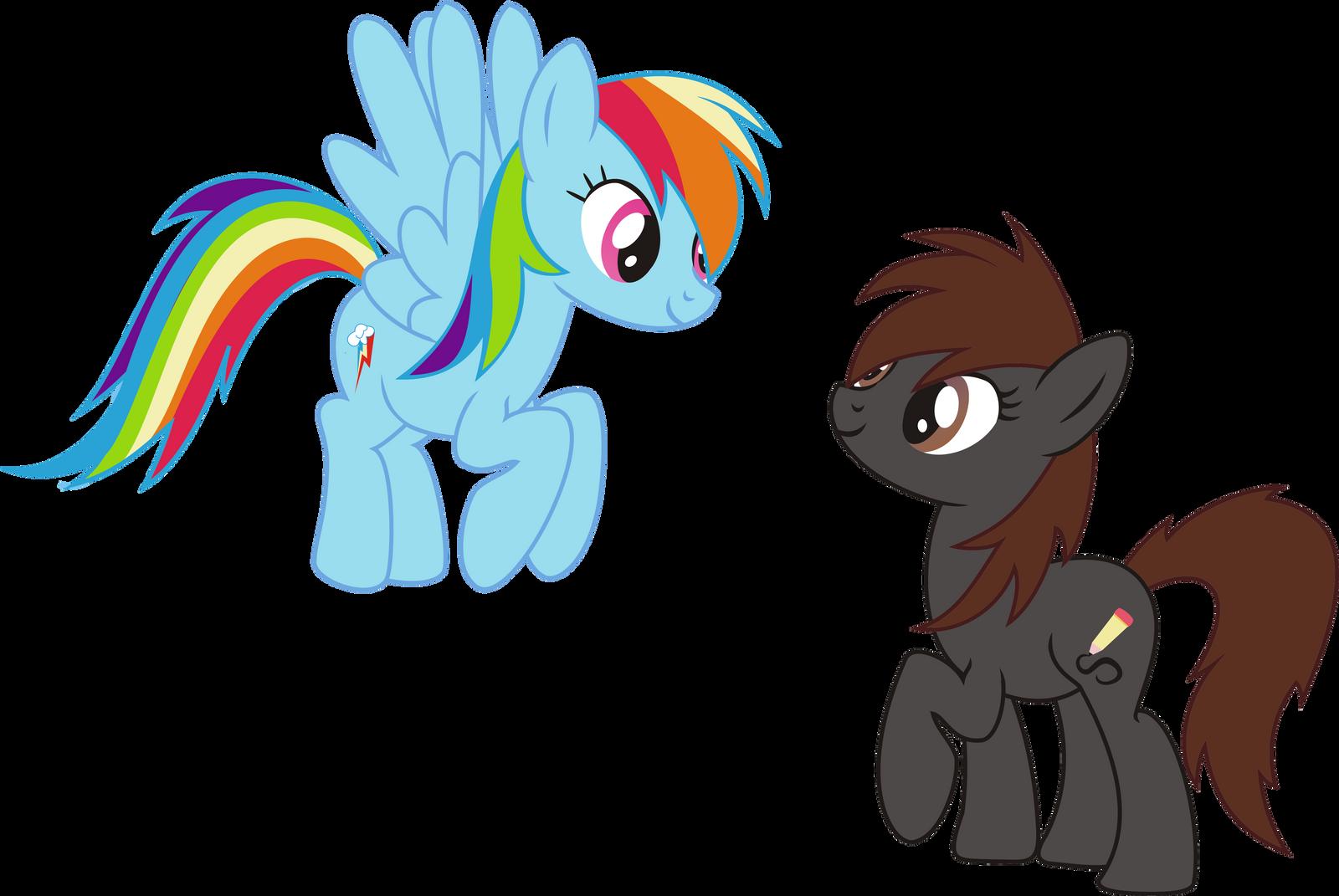 Daniela and Rainbow by leopurofriki