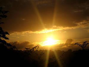 Early Sunrise - with sunbeams