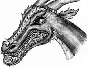 Angry Dragon - Black n' white