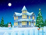 Christmas House by bunnybua