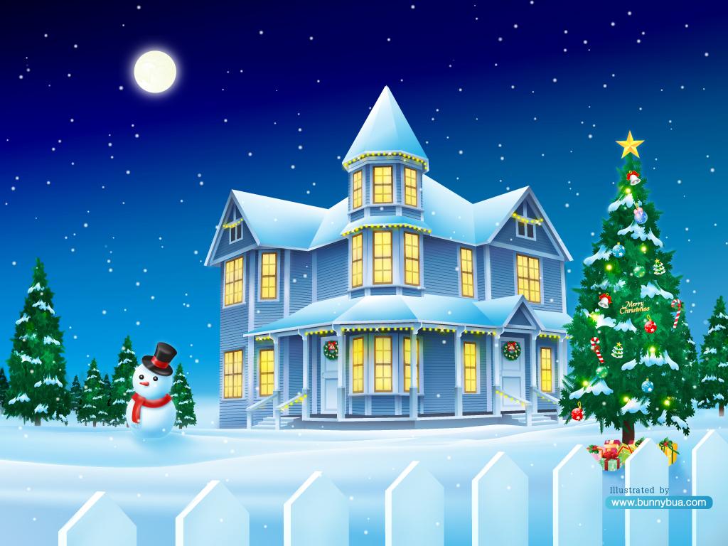 Christmas House.Christmas House By Bunnybua On Deviantart