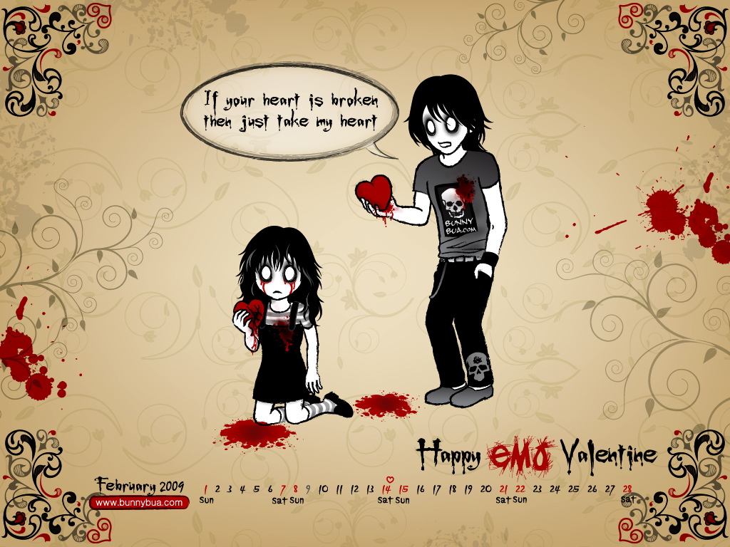 Happy EMO Valentine By Bunnybua ...