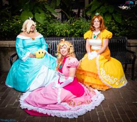 Mushroom Kingdom Princesses by FuzzyRedPants