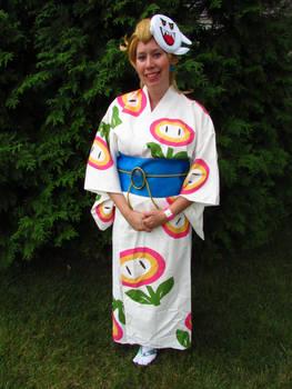 Mario Odyssey Princess Peach Cosplay - Kimono