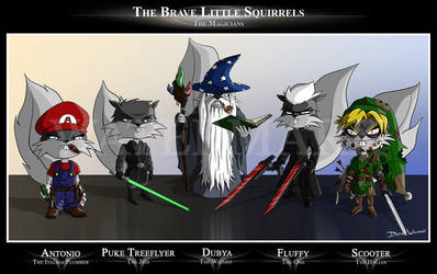 The Brave Little Squirrels: Magicians by SquirrelEmperor