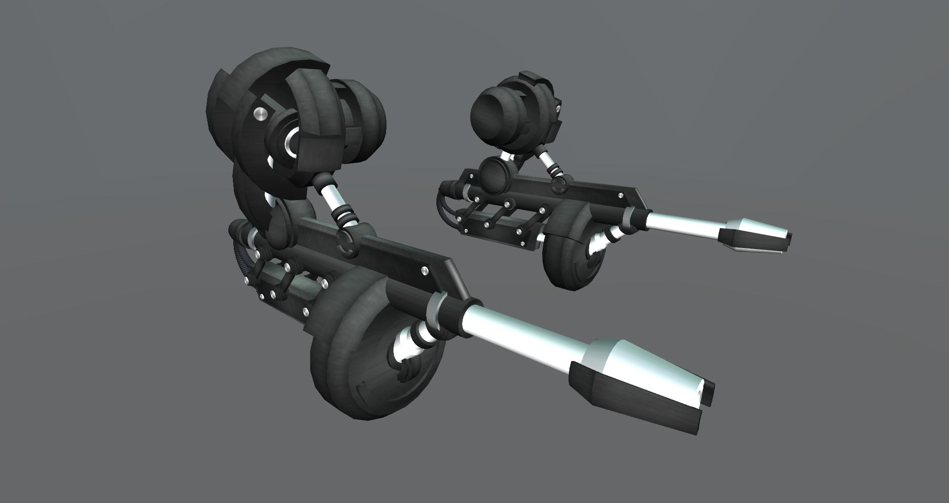 3D Futuristic Machine Guns by Zarthak on DeviantArt