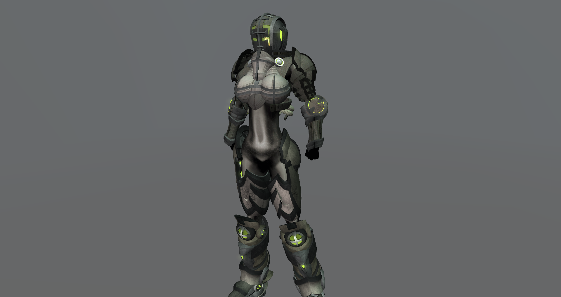3D Female Power Armor By Zarthak